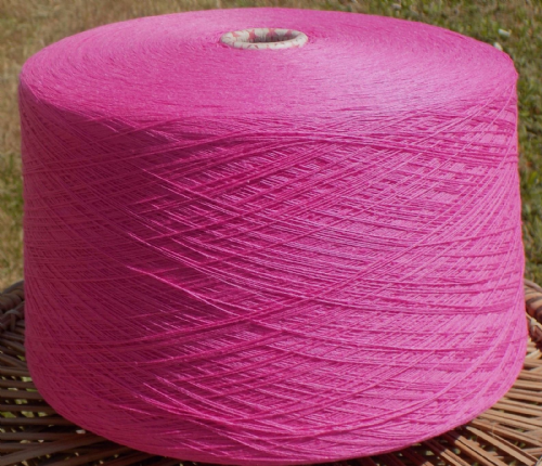 Fusion Knitting Machine Yarn 2/30 2 Kilos Acrylic / Cotton Hot Pink IND22.02